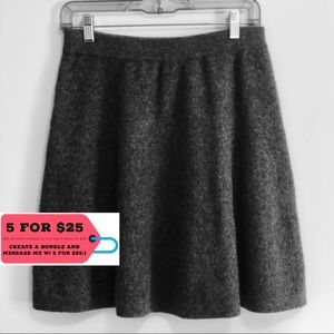 Tahari Fit and Flare Grey Mini Skirt
